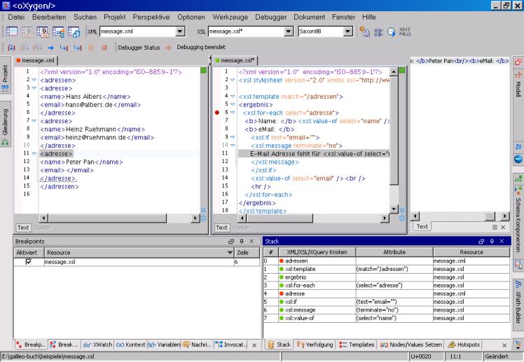 data2type GmbH: XSLT-Entwicklungsumgebungen | Oxygen 9 0