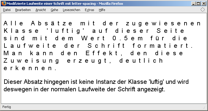 data2type GmbH: CSS | Abstand | letter-spacing & word-spacing