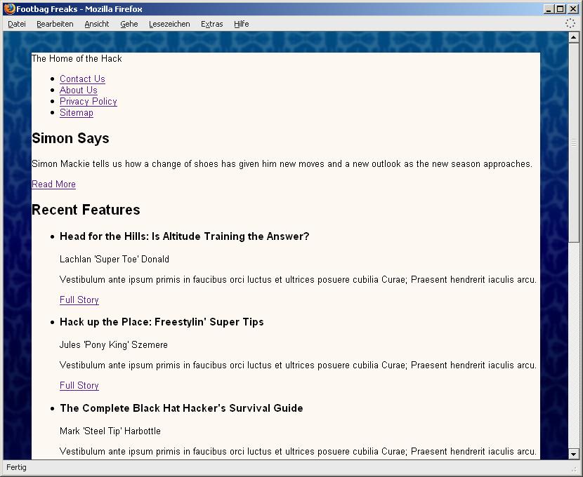 Data2type gmbh css das beispiel layout aufbauen - Css wrapper div ...