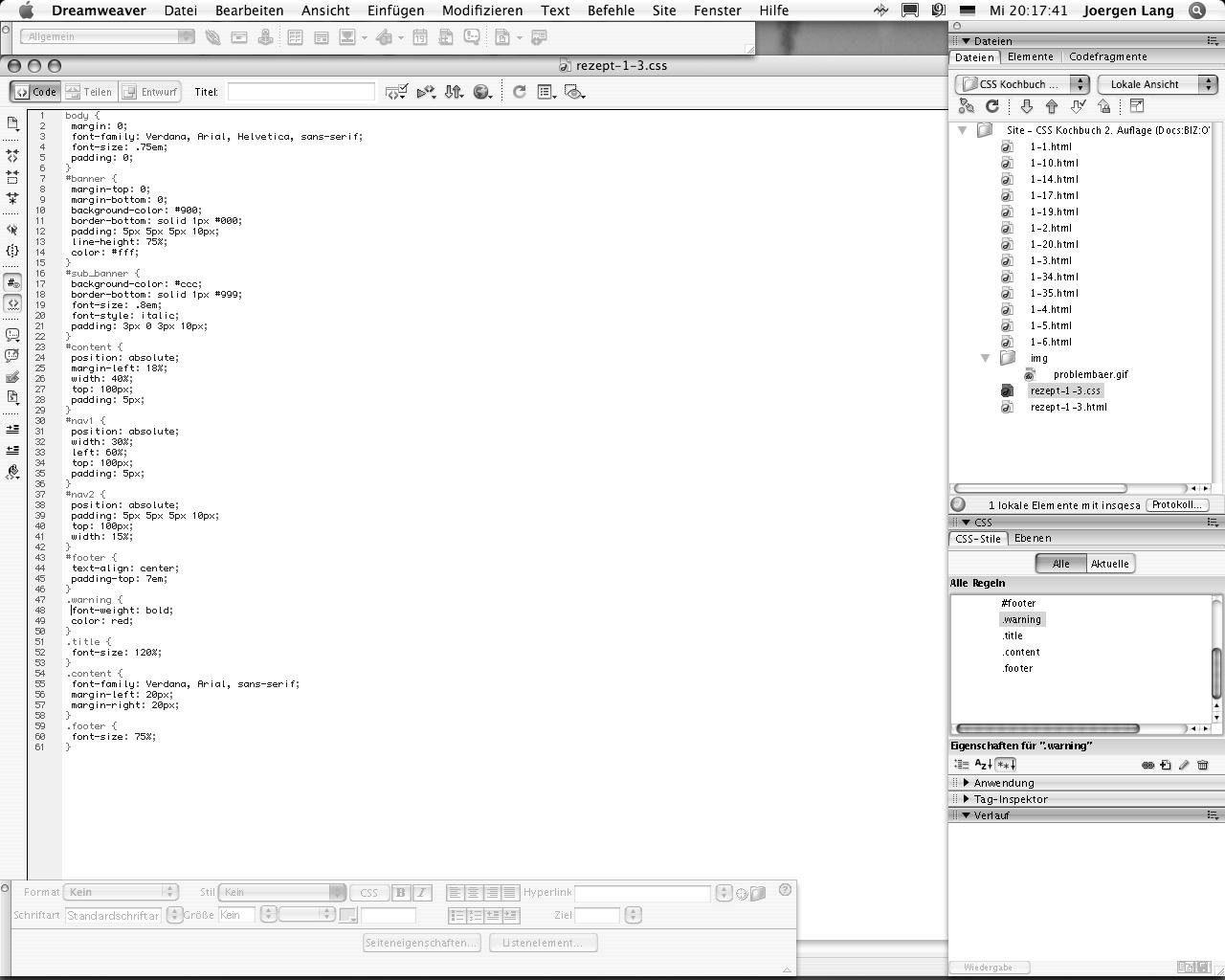 data2type GmbH: CSS Kochbuch   CSS mit Adobe Dreamweaver