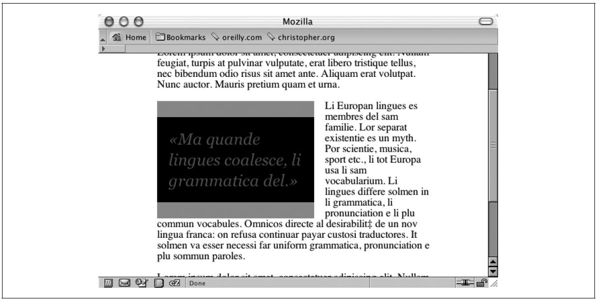 data2type GmbH: CSS Kochbuch | Pull Quotes mit Rahmen