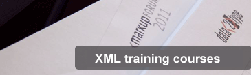 Programme of XML seminars and courses in 2018
