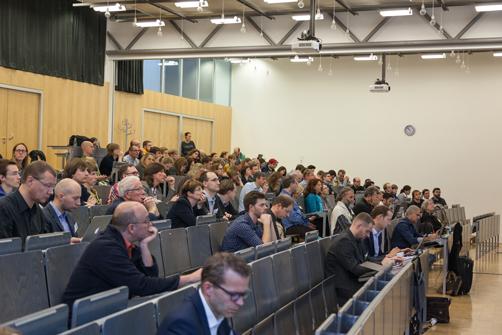 Publikum im Audimax der HdM