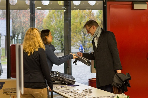 Empfang der Teilnehmer beim Markupforum